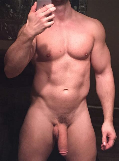 Naked handsome men with flaccid penis